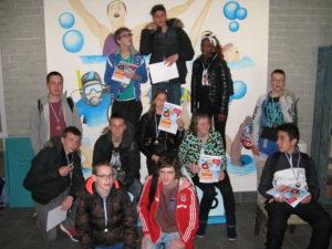 deelnemers zwemkampioenschap